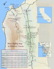 Wine tasting map of Monterey County