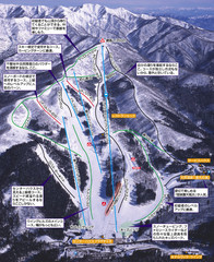 Winghills Shirotori Ski Trail Map