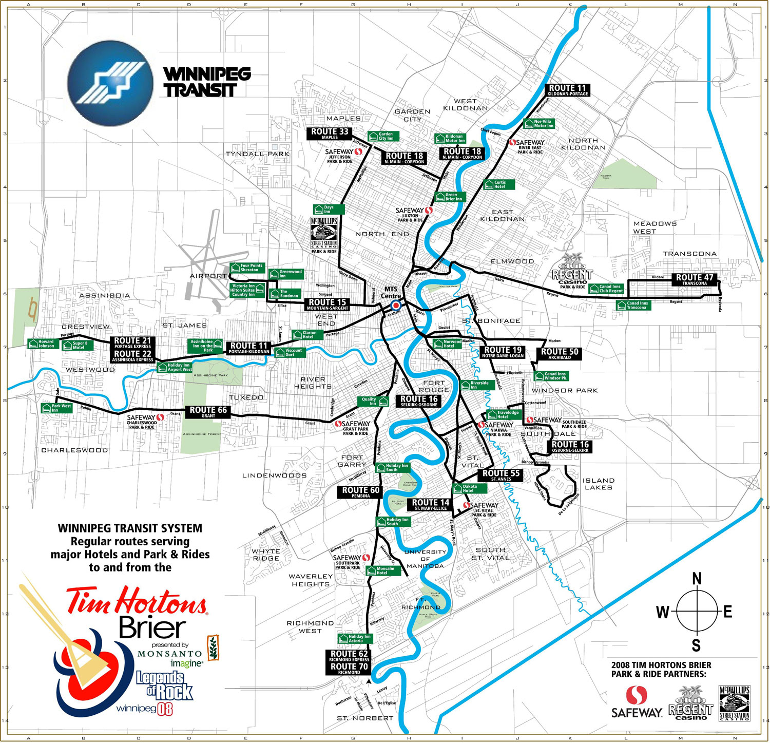 Winnipeg Transit System Map winnipeg mappery
