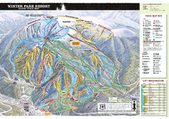 Winter Park Resort Ski Trail Map 2006-07