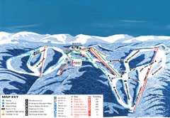Wintergreen Ski Resort Ski Trail Map