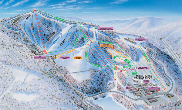 Winterplace Ski Resort Ski Trail Map