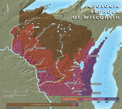 Wisconsin Geologic Bedrock Map