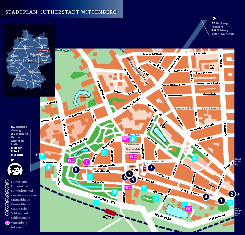 Tourist Map Krakow Wittenberg Tourist Map