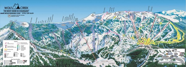 Wolf Creek Ski Area Ski Trail Map