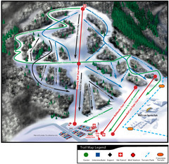 Wolf Mountain Ski Trail Map
