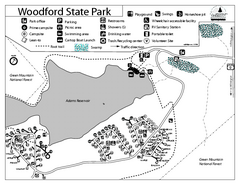 Woodford State Park Campground Map