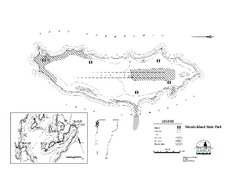 Woods Island State Park Campground Map