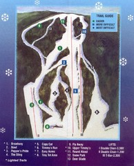 Woods Valley Ski Area Ski Trail Map