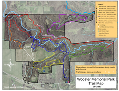 Wooster Memorial Park Trail Map