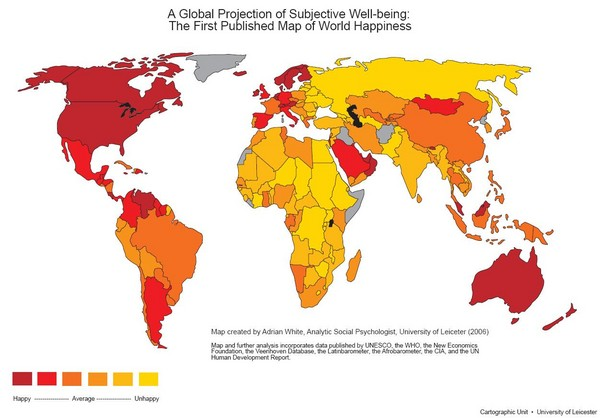World Happiness Map