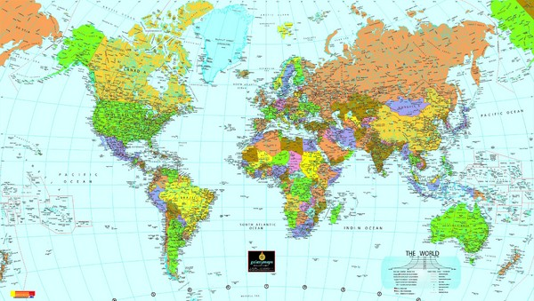 World Map • mappery