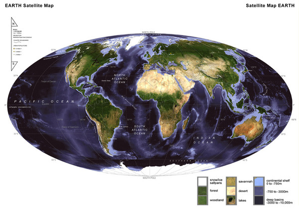 Map Of The World Satellite.World Satellite Map Mappery