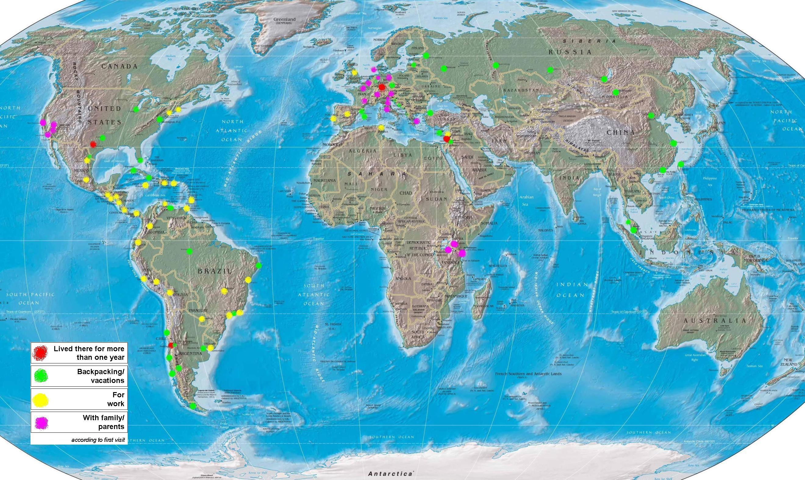 World Tourist Map • mappery