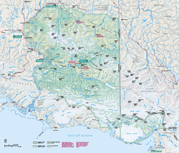 Wrangell - St Elias National Park & Preserve Official Park Map