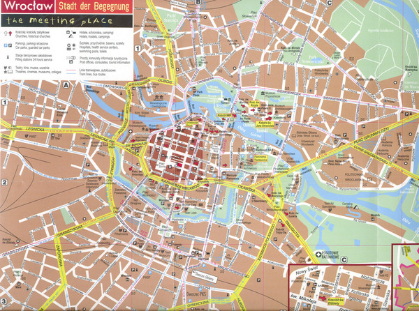 Wroclaw Tourist Map