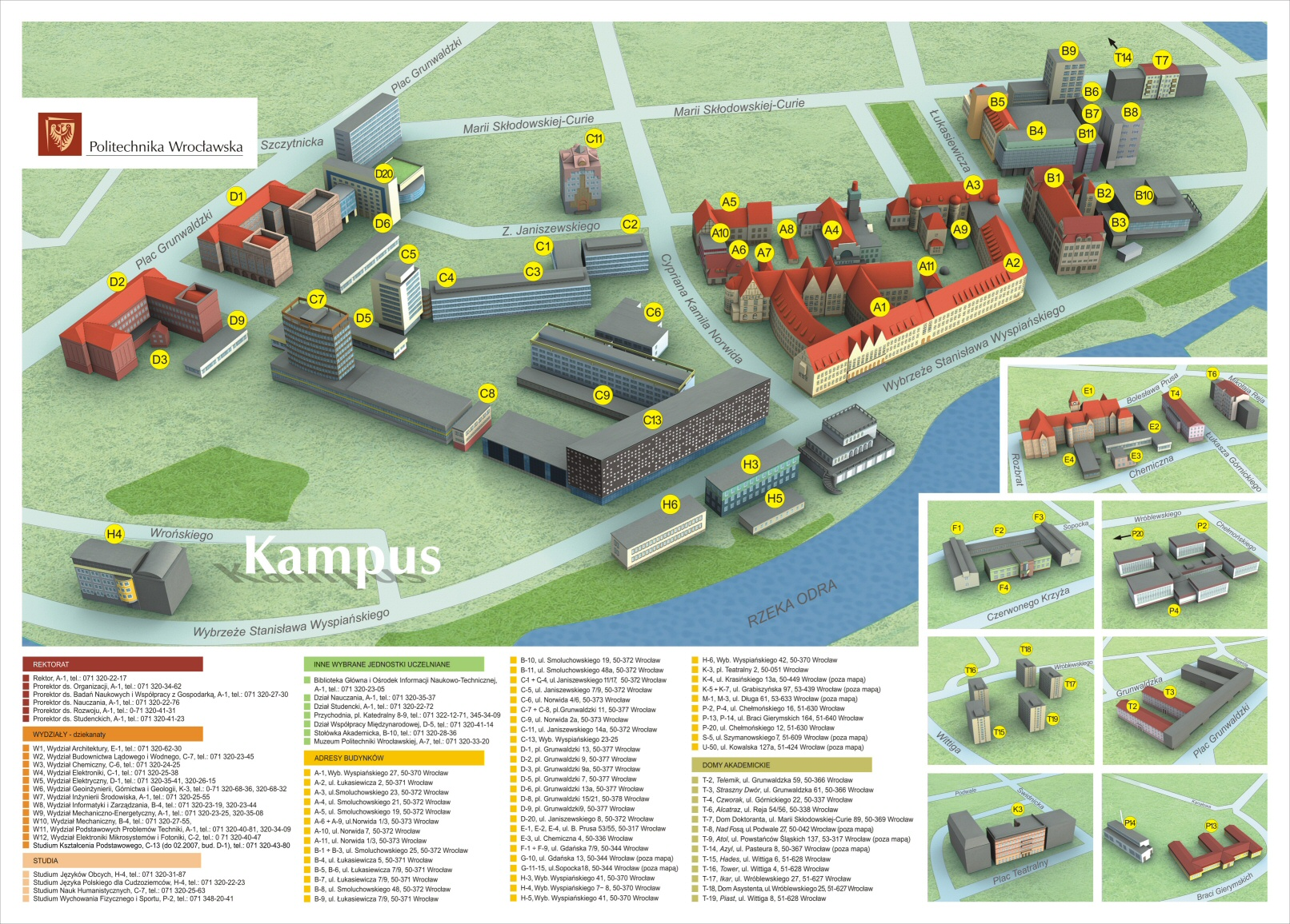 Wroclaw University of Technology Campus Map Wroclaw Poland • mappery