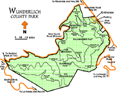 Wunderlich County Park Map