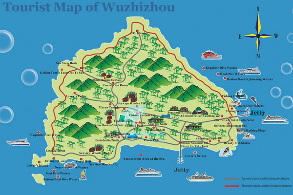 Wuqizhou Island Tourist Map