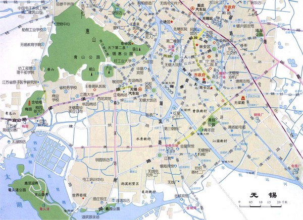 Wuxi Guide Map