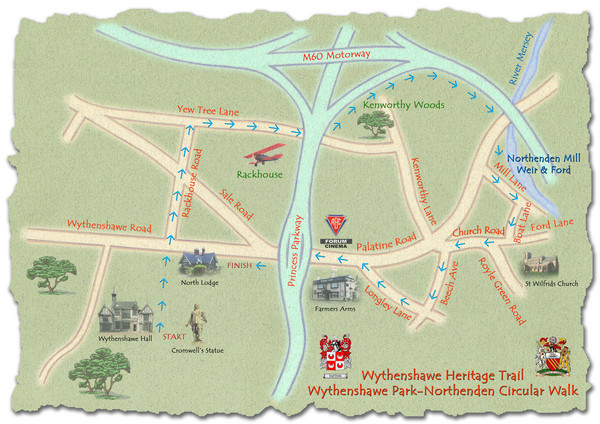 Wythenshawe Heritage Trail map