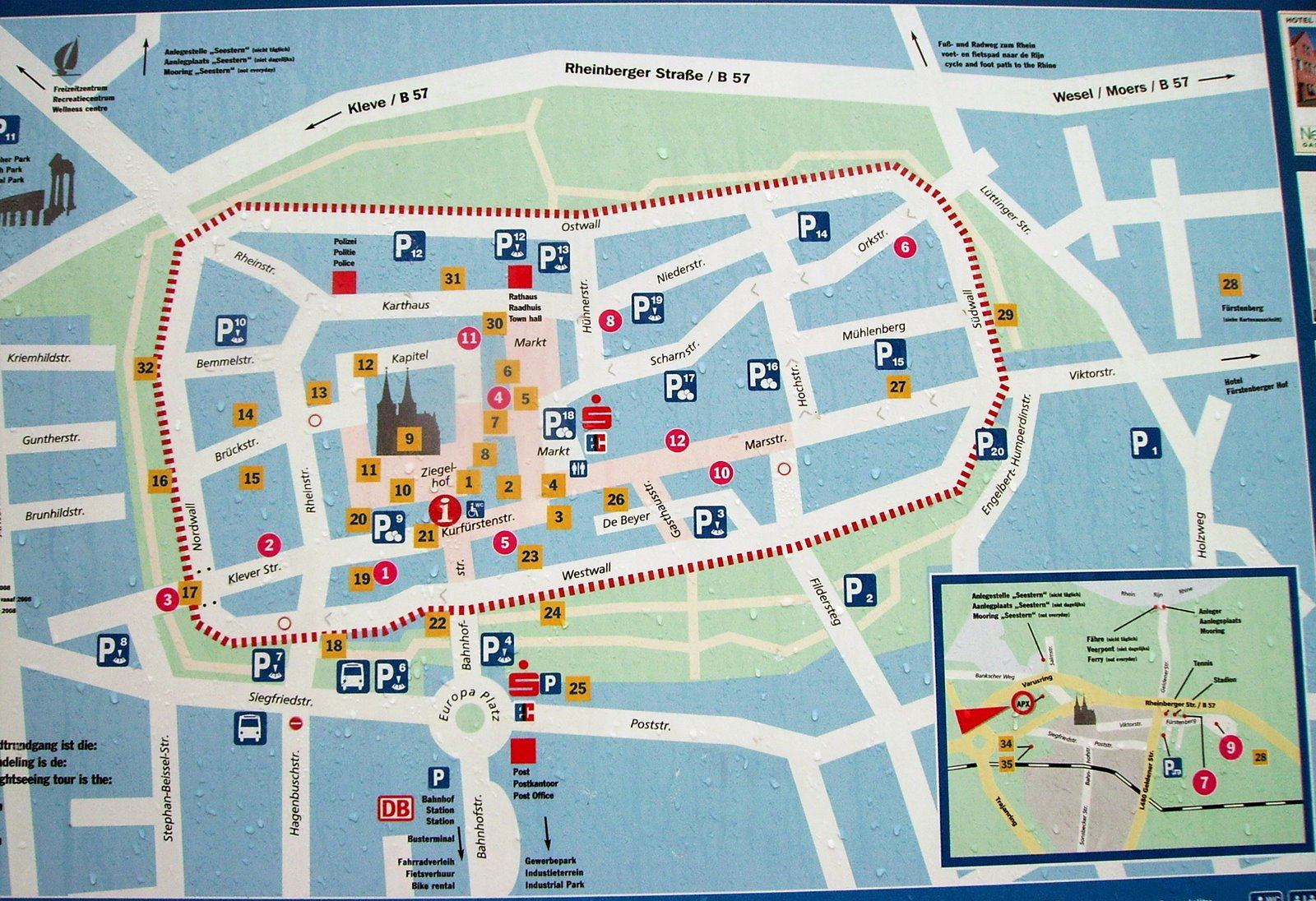 Xanten Tourist Map Xanten Germany mappery – Tourist Map of Berlin