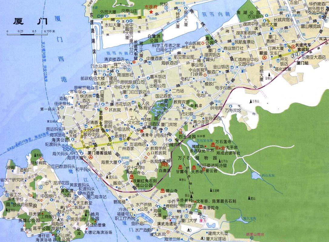 Xiamen Map  Xiamen  mappery