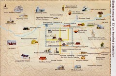 Xian China Tourist Map
