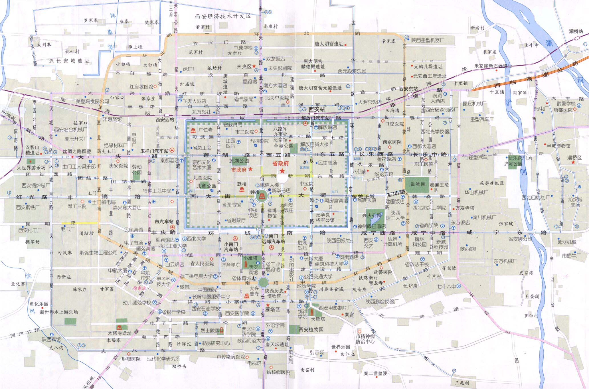 Xian Tourist Map Xian mappery – Xian Tourist Map