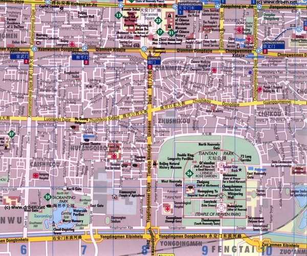 Xicheng District Tourist Map