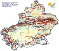 Xinjiang Physical Map