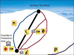 Yad Moss Sketch Ski Trail Map