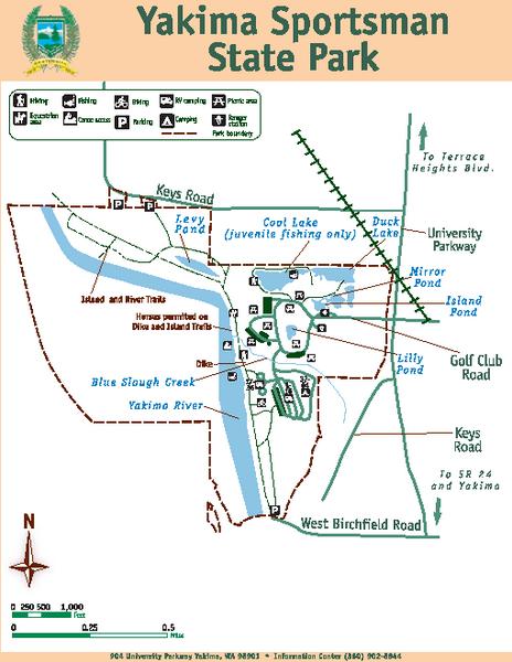 Yakima Sportsman State Park Map Yakima Sportsman State Park WA