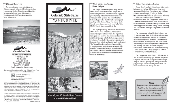 Yampa River State Park Map