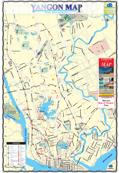 Yangon Tourist Map