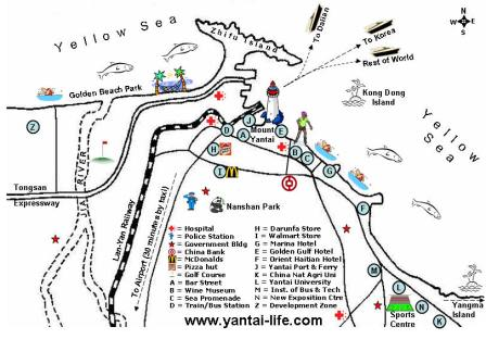 Yantai Fun Map Yantai Mappery - Yantai map