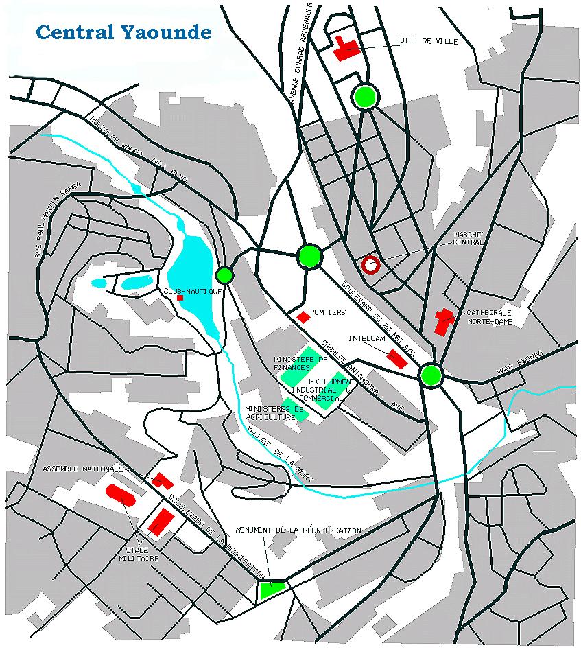 Yaounde city Map mappery