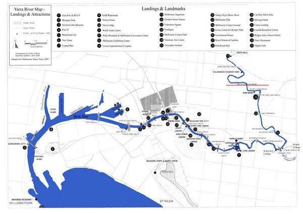 Yarra River Map - Yarra Victoria • mappery on niger river australia map, athens metro map, narmada river map, trail map, snowy river australia map, derwent river australia map,