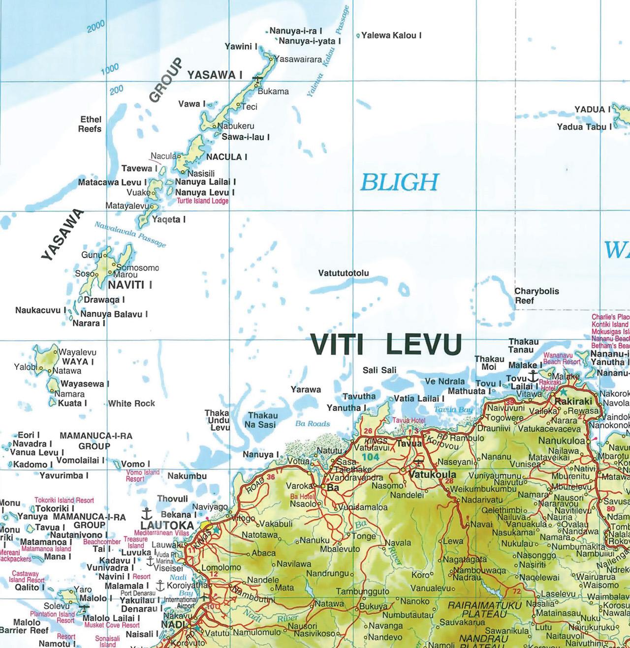 Yasawa Islands Fiji  city photo : Yasawa Islands Map See map details From www.wilkinsonrealtyfiji.com
