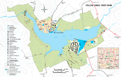 Yellow Creek State Park map