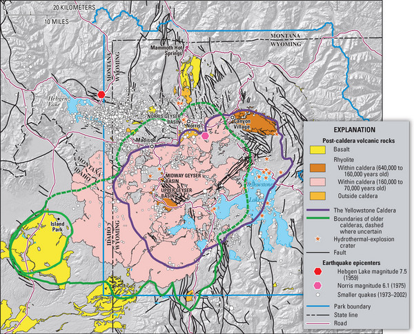 Yellowstone Geologic Map Yellowstone National Park Wyoming US