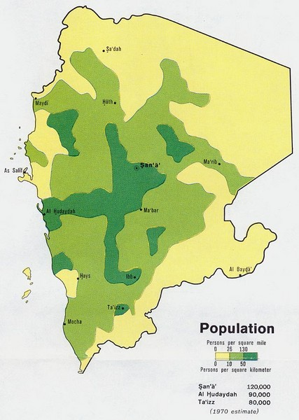 Yemem Population Map