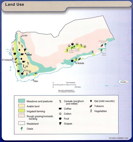 Yemen Land Use Map Yemen Mappery - Map of yemen
