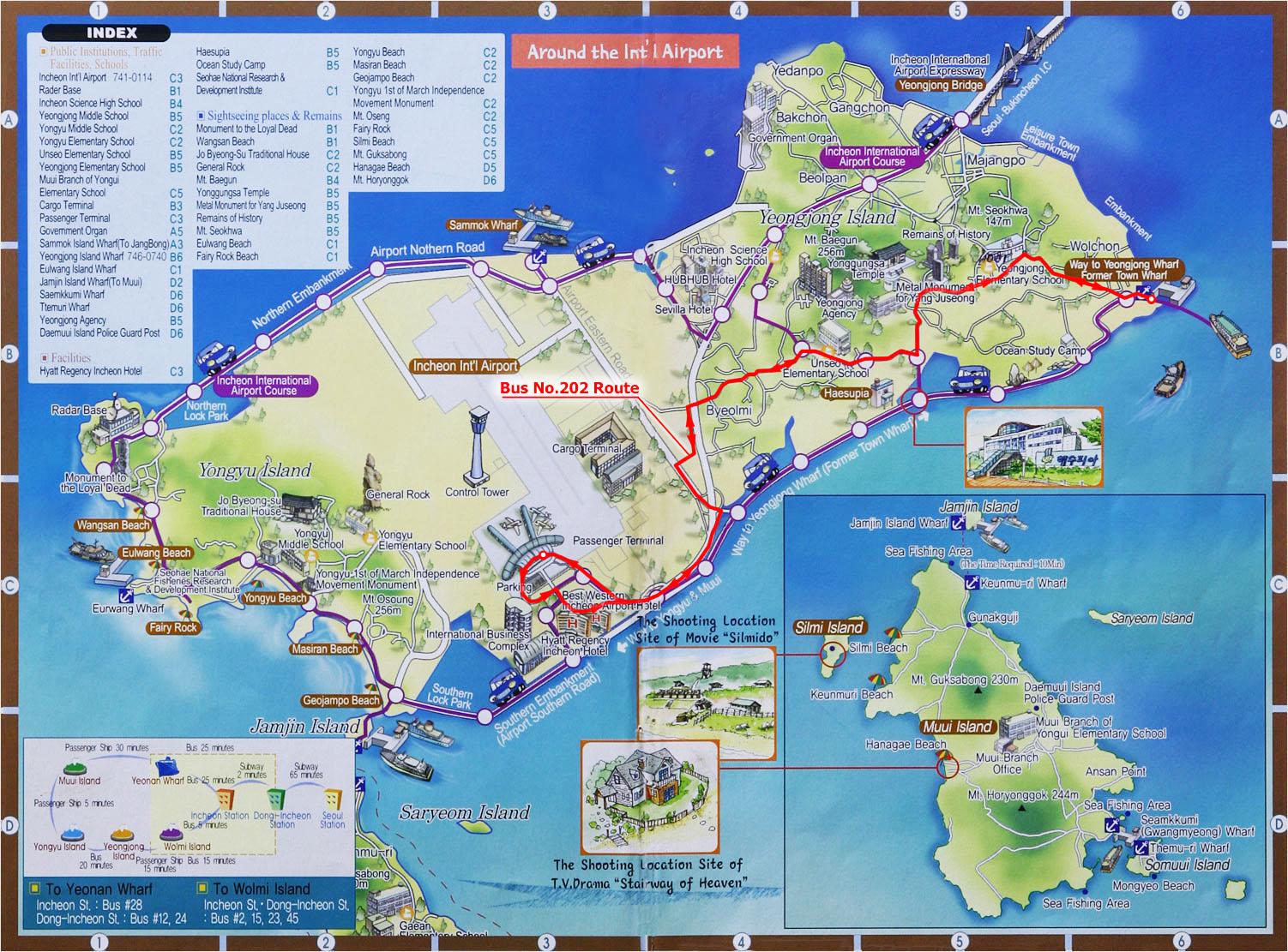 Yeongjong Island Tourist Map Yeongjong Island South Korea mappery