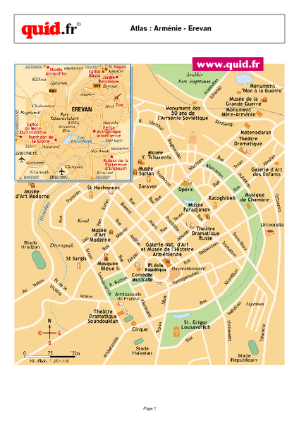 Yerevan City Map