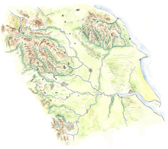 Yorkshire topography Map