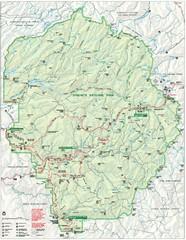 Yosemite National Park official map - Yosemite National Park CA ...
