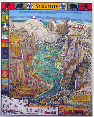 Yosemite National Park Visitor Map
