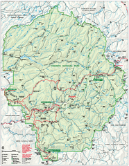 Yosemite National Park official map