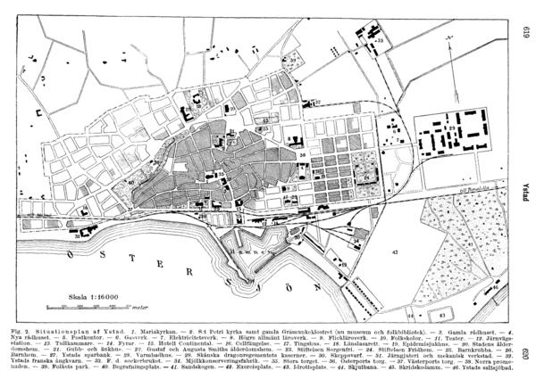 Ystad City Map Ystad Sweden Mappery - Sweden map ystad
